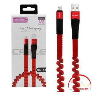کابل تبدیل USB به لایتنینگ کلومن مدل kd-44 طول 1 متر