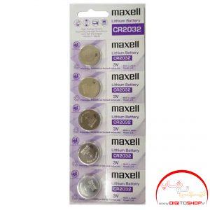 باتری سکه ای لیتیوم MAXELL مکسل مدلLITHIUM CR2032