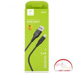 کابل تبدیل USB به لایتینگ اسکای دلفین مدل S61L طول 1 متر